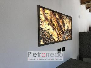 quadro in pietra retroilluminato traslucidi flexstone trasparente autunno offerta stone design prezzi pietrarredo