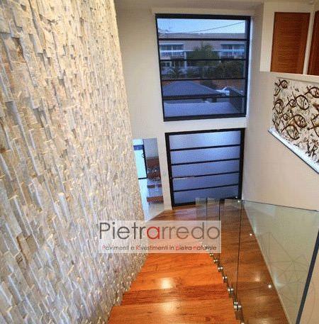 rampa scala rivestimento quarzite decorativa parete liste pietra pietrarredo