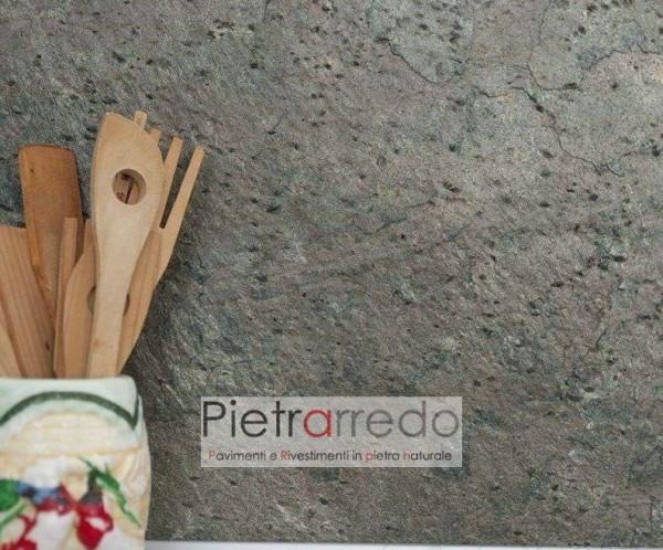 retro cucina pensile pietra sottile muro protezione pietrarredo milano