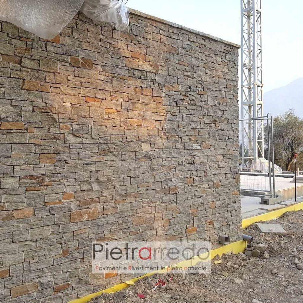rivestimenti in pietra luserna naturale verde grigia per muri e facciate prezzi