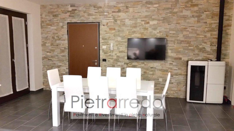 Stunning Parete Soggiorno Pietra Photos - Idee Arredamento Casa ...