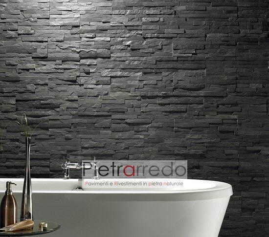 rivestimento-design-listelli-ardesia-nera-offerta-bagni-pareti-muri-rivestimento-pietrarredo-antracite