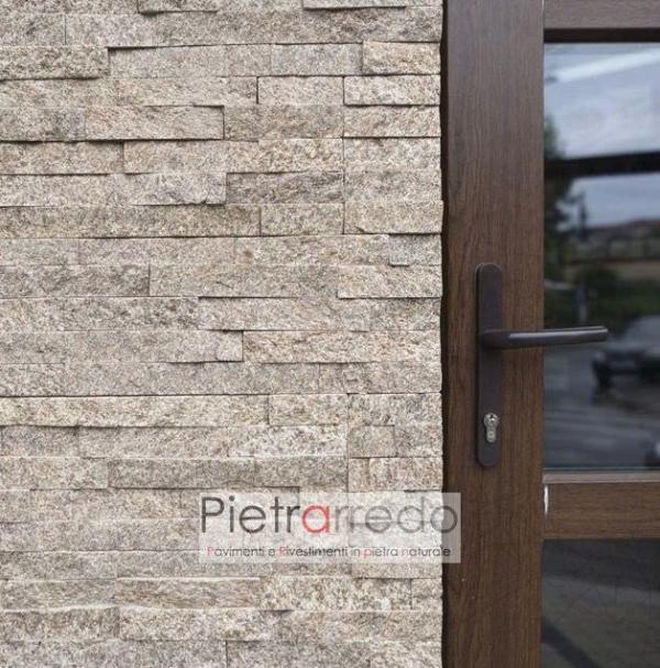 rivestimento-pietra-quarzite-dorè-pietrarredo-costo-posa-parete-camino-facciata