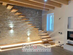 rivestimento quarzite mista pietrarredo milano prezzo costo mq placca decorativa beige offerta per muri e facciate sasso a listelli bric