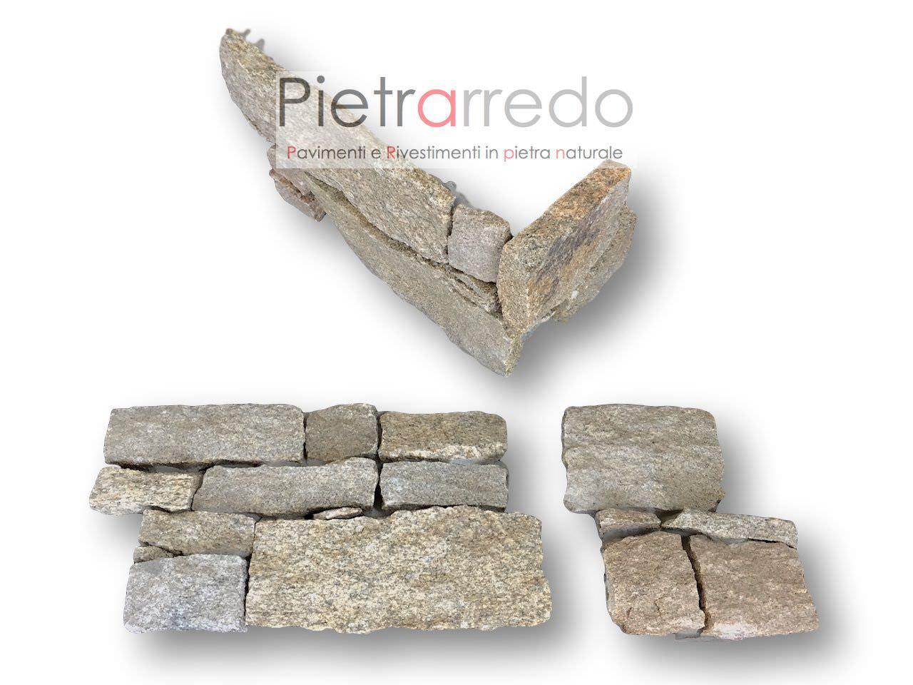 Angoli per rivestimento pietra quarzite luserna 50 in for Listino prezzi pannelli finta pietra