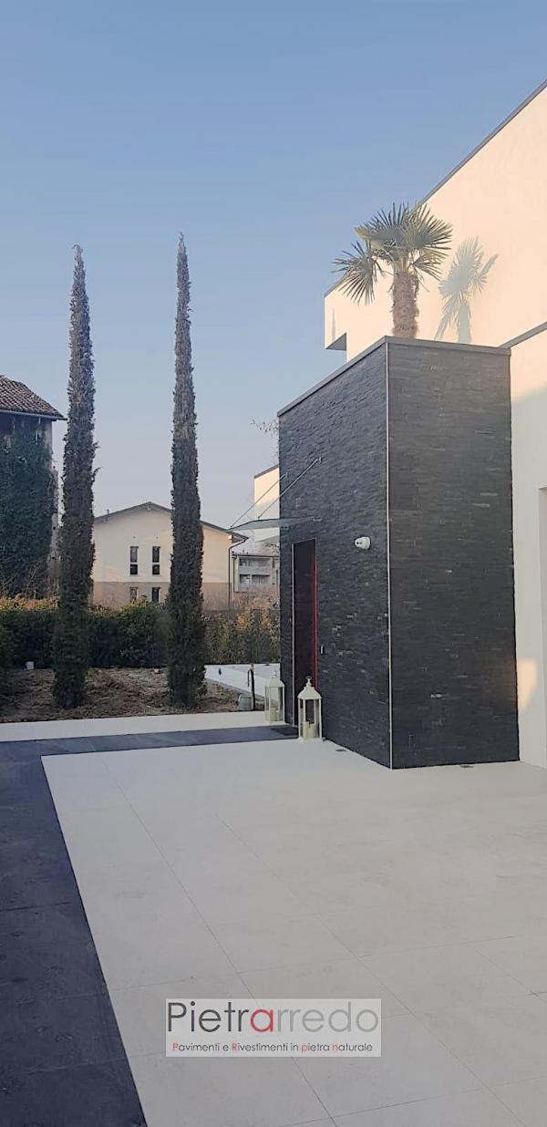 stone cladding. black slate ardesia nera pietrarredo milano italy price costi prezzo