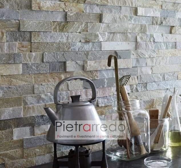 top cucina in quarzite mista listelli rivestita colore misto pietrarredo prezzo