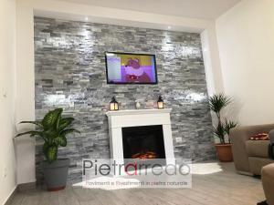 rivestimento in pietra naturale quarzite ghiaccio cloudy grey stone panel white price pietrarredo milano costo