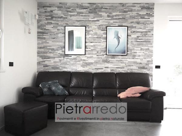 rivestimento in pietra quarzite ghiaccio pietrarredo milano prezzo costi offerte bianca grigia shine stone palen price