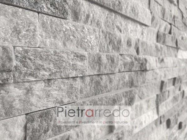 rivestimento-tridimensionale--traciato-liste-pietra-quarzite-ghiaccio-listelli-pietrarredo-milano-lombardia-costo-prezzi-offerta-bianco-grigio-nuvolato
