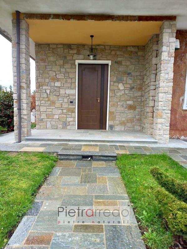facciata rivestita con pietra credaro grezza offerta sasso rustica casolare cascina pietrarredo prezzo