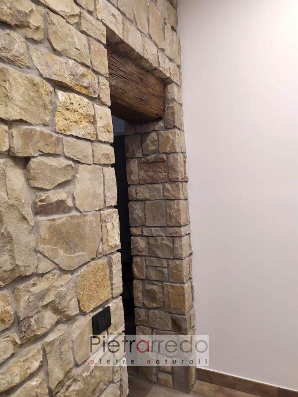 offerta e prezzo per sassi rivestimenti pareti e facciate naturali grezzi a spacco rustico beige chiaro pietraredo credaro
