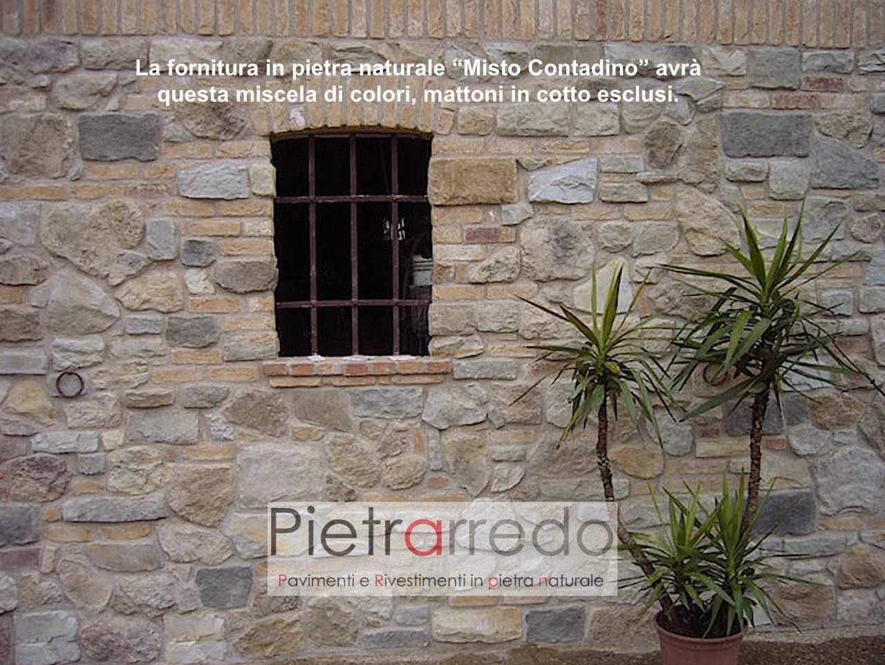 """Colori Per Interni Casa Rustica rivestimento in pietra """"misto contadino"""""""