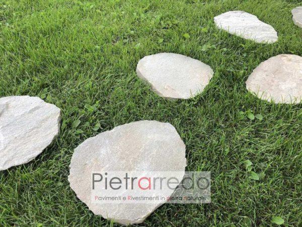 camminamenti giardino con passi giapponesi stone garden pietra sasso camminare prato pietrarredo prezzo milano