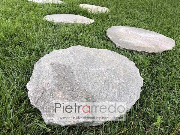 costo e offerta passo giapponese in pietra naturale quarzite grigia per giardini e stone garden design offerta pietrarredo