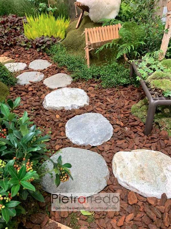 giardino giapponese con i passi in pietra di pietrarredo milano costi prezzo ovali eleganti uniche