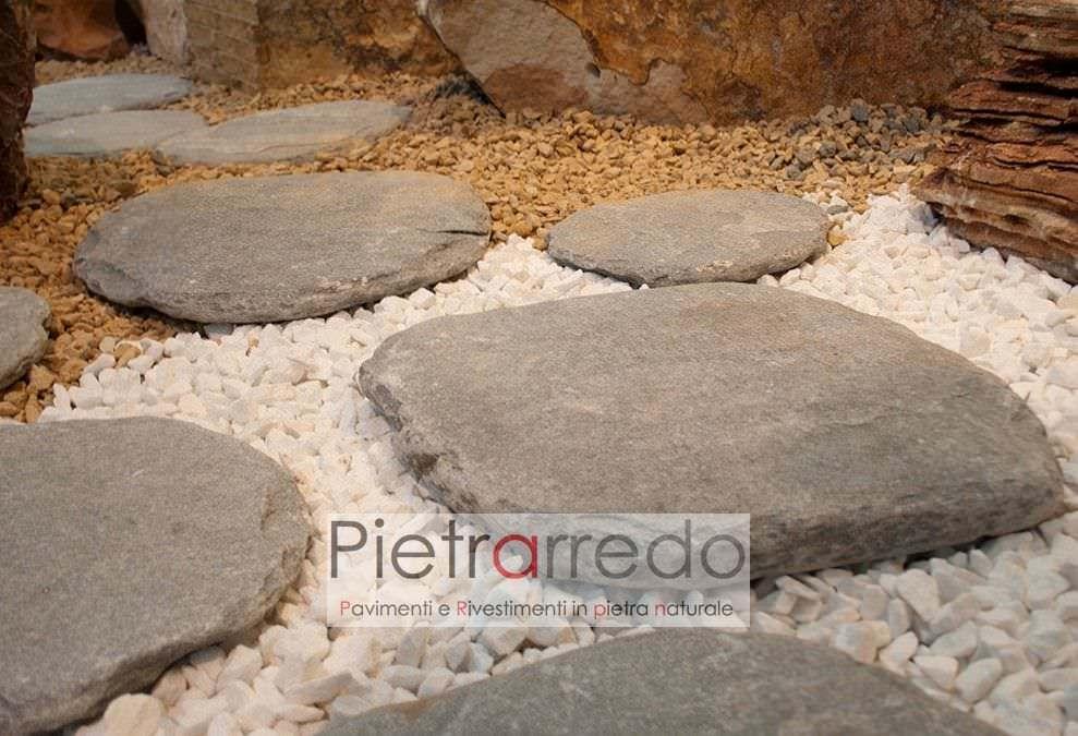 Offerta passi giapponesi in pietra anticata a mano 17 cad iva comp - Pietre camminamento giardino ...