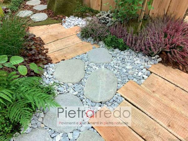 passaggi in pietra per vialetti giardino zen giapponese pietrarredo milano parabiago prezzo zen
