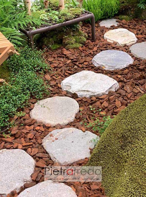 passi giapponesi in pietra naturale grigia chiara prezzo costi pietrarredo mmilano lastre ovali per stone garden