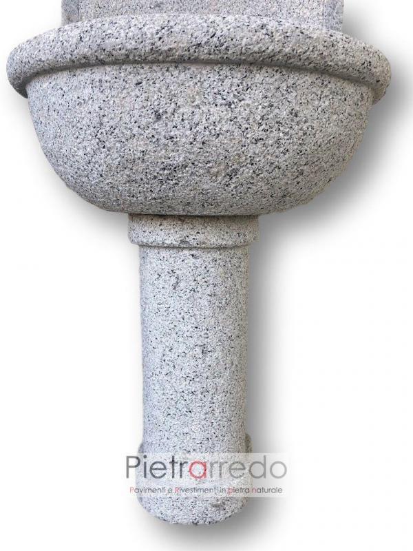 fontanella da muro granito grigio montorfano bocciardato costo pietrarredo
