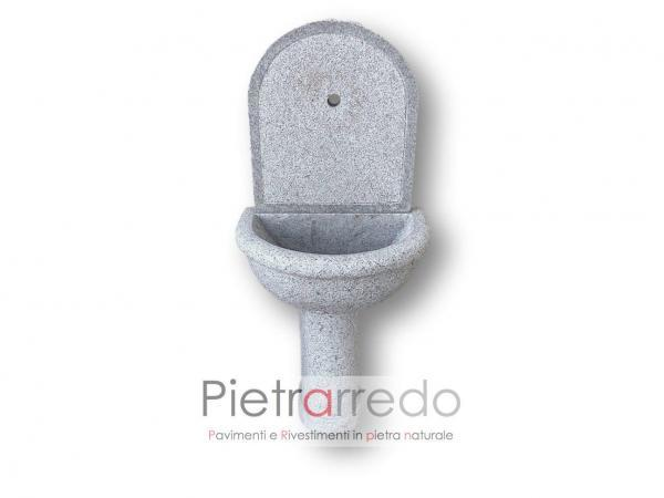 fontanella da muro in sasso pietra granito Laura Pietrarredo milano costi prezzo