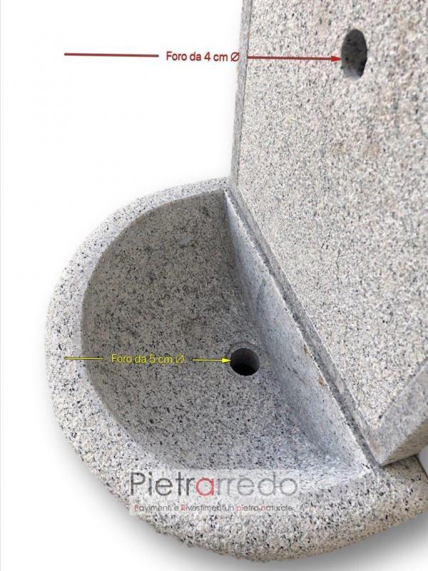 lavandino da parete in pietra arredo giardino sasso costo acqua giardino zen