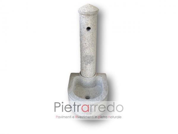 lavandino e fontana in pietra e sasso grigio da giardino e prato terra offerta discount pietrarredo