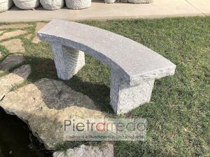 panchina elegante da giardino in sasso pietra aosta rustica pietrarredo garden