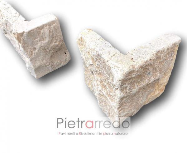 Angolari e spigoli a l pietra naturale da rivestimento borgo toscano prezzo placche decorative offerta pietrarredo milano pietravera