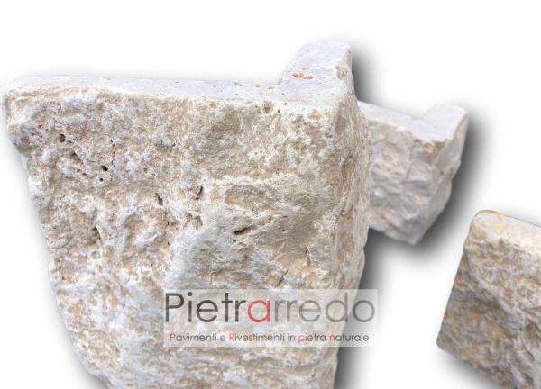 pietra naturale per rivestimento rustico grezzo antico borgo toscano agriturismo cascina pietra bella beige marrone chiara prezzo pietrarredo