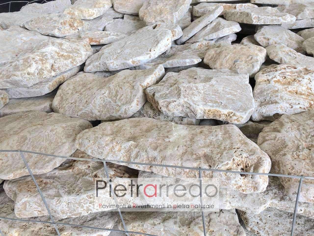 rivestimento rustico parete interna esterna borgo cascina toscana travertino anticato prezzo costi