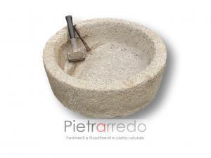 abbeveratoio per animali in pietra antico vasca granito gialla sasso prezzo pietrarredo