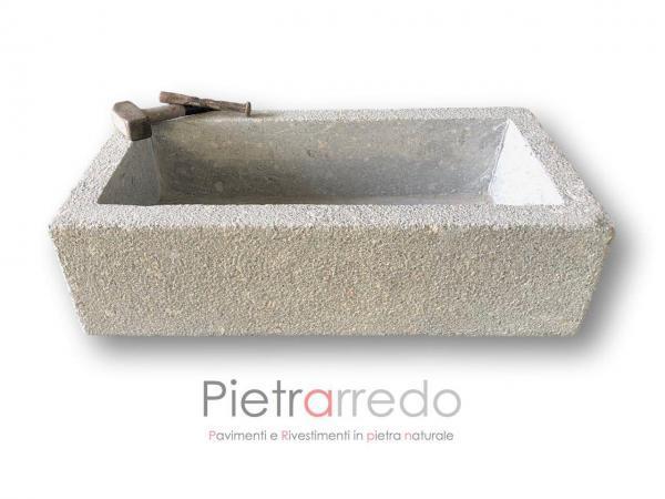 lavandini in pietra fioriera bocciardata costi granito lavelli sasso