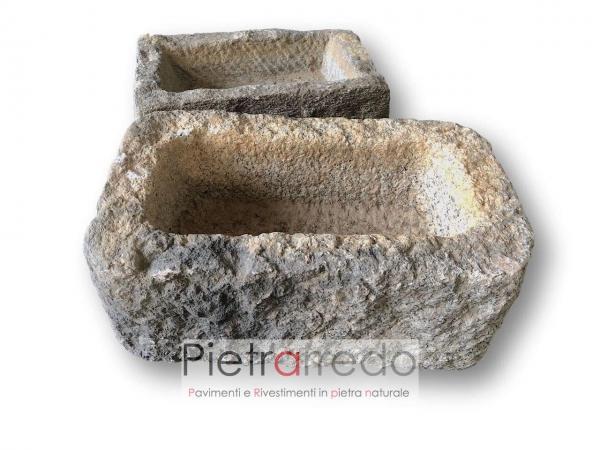 pietra antica vecchia per lavello lavandino fioriera design vintage prezzo costo
