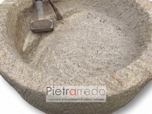 prezzo costo lavandino sasso pietra fatta a mano lavello vasca granito pietrarredo milano