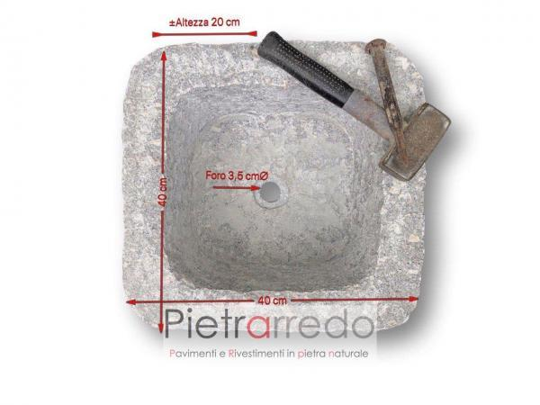 vasca in granito montorfano pietra scavata lavabo vaschetta prezzo