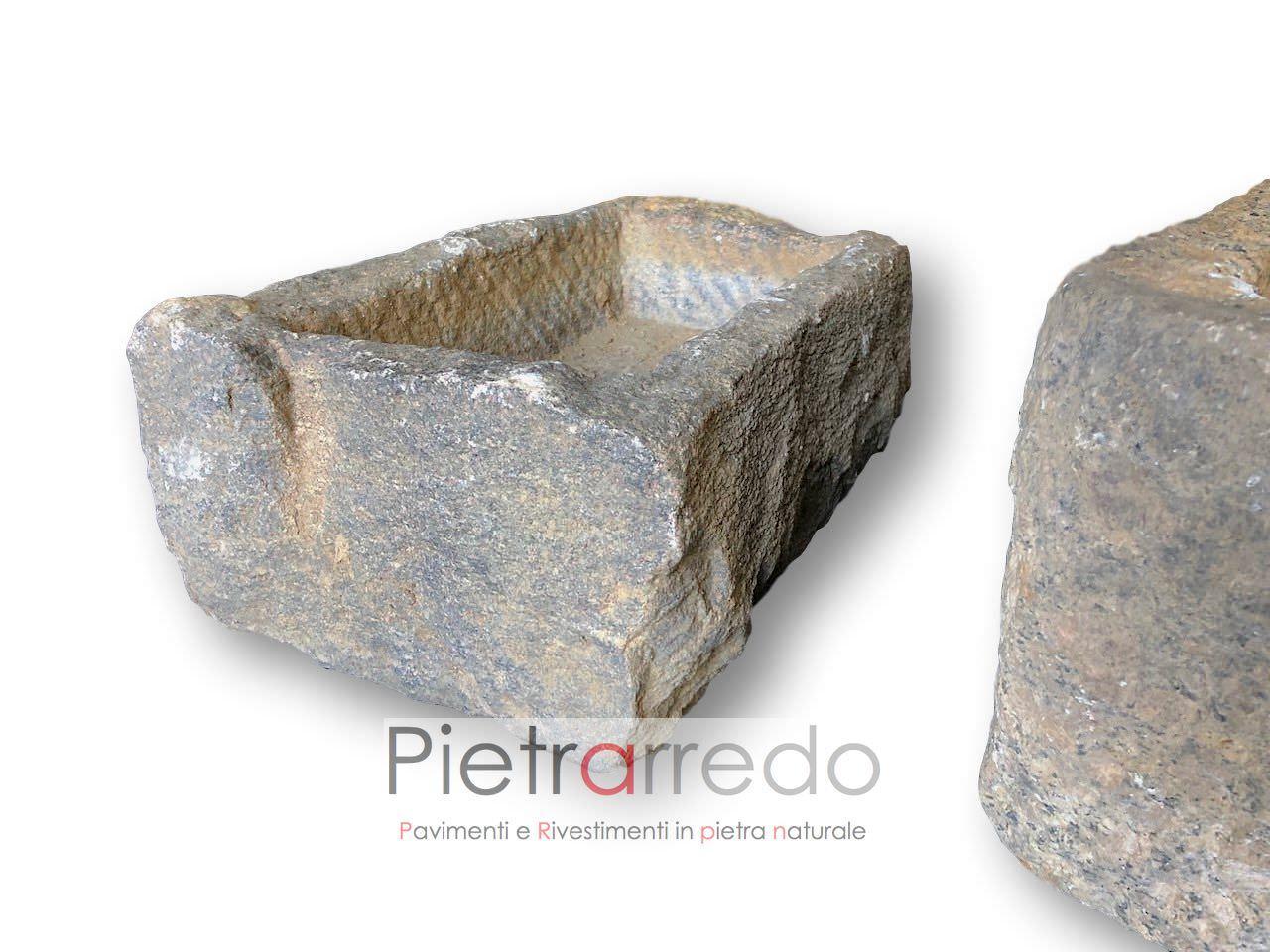 Vasche In Pietra Per Fontane vasche, lavelli, abbeveratoi antichi in pietra, fatti a mano