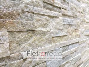 costo placche per muri e facciate in pietra vera naturale caminetti muretti quarzite gialla scozzese