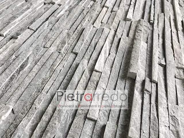 listello in pietra cascata quarzite grigia slim pannelli decorativi per pareti costo