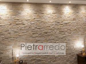 pannelli muretto quarzite beige scozzese pietrarredo ilano prezzo pareti in sasso offerte