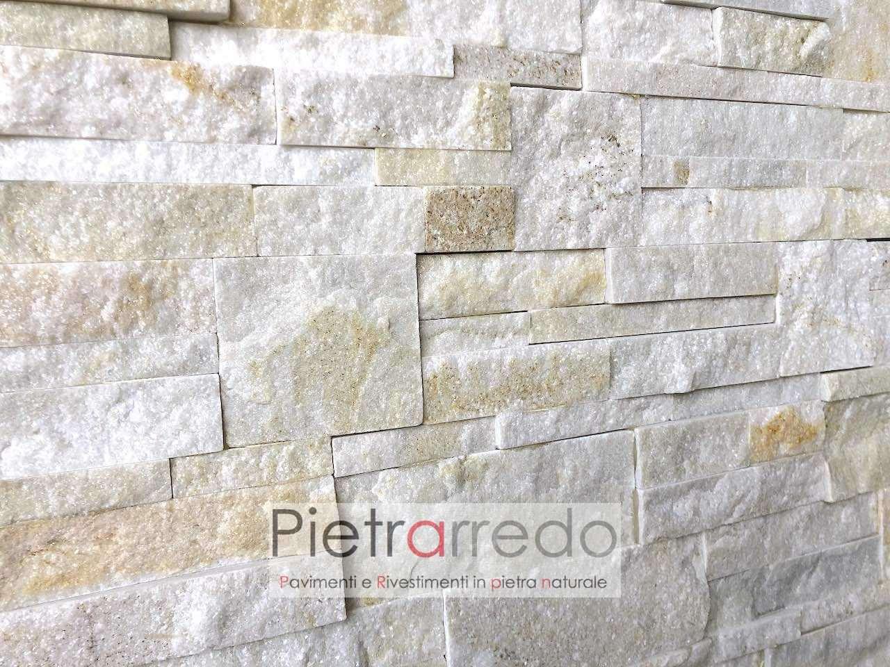 placche decorative in pietra quarzite beige scozzese in offerta su pietrarredo milano per muri facciate bonus italia 2020 incentivi