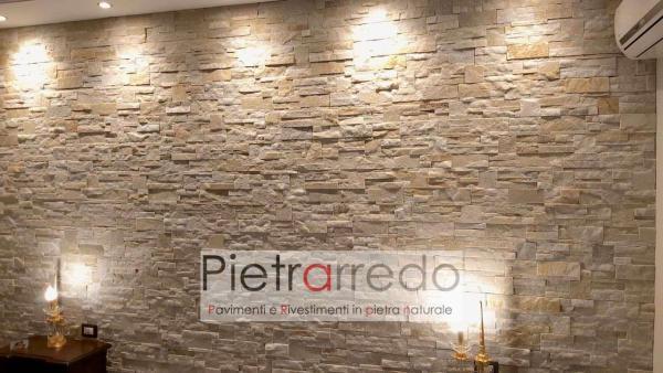 rivestiento in pietra naturale quarzite beige scozzese pezzo pietrarredo milano pannelli per pareti decorative stone