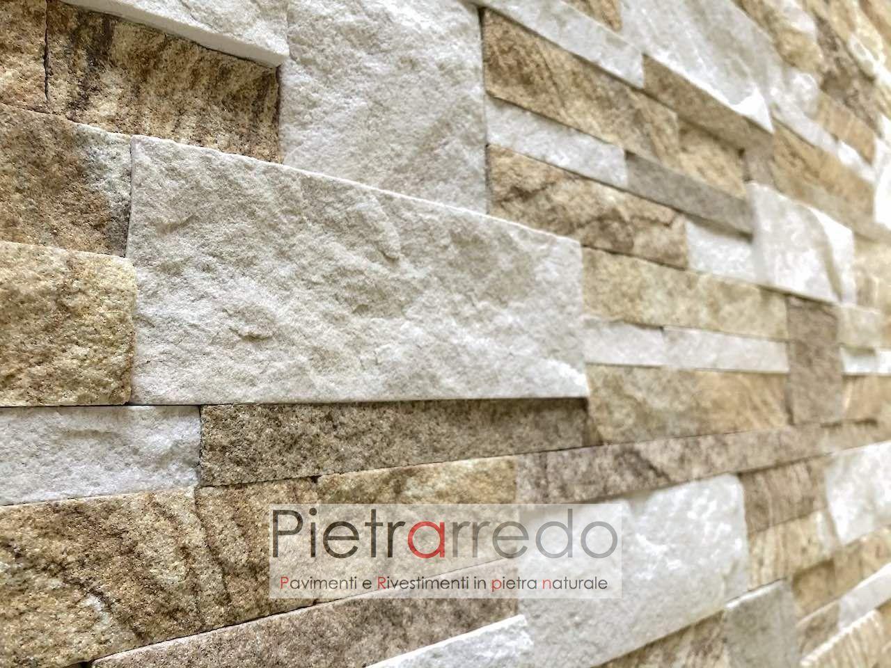 Rivestimento pietra arenaria scozzese chiara offerta a u ac mq