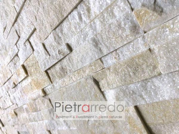 rivestimento pietra zeta prezzi costi offerta pietrarredo milano placche decorative parete brillantinata stone cladding