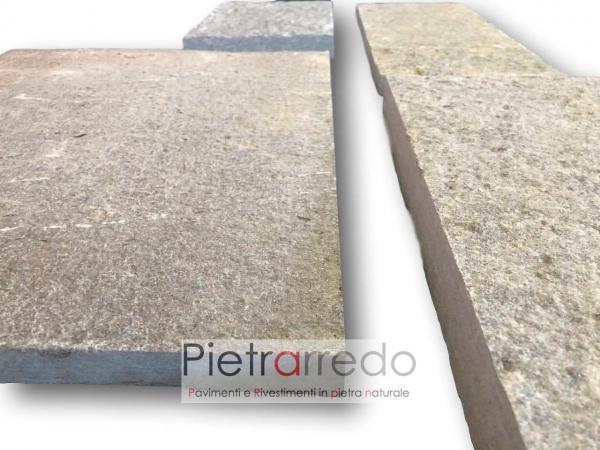 pavimento pietra luserna esterno giardino prezzo lati segati squadrato rettangolare milano pietrarredo