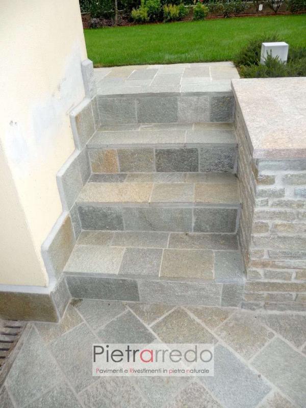 Lastre in pietra luserna esterno lati segati scala prezzo
