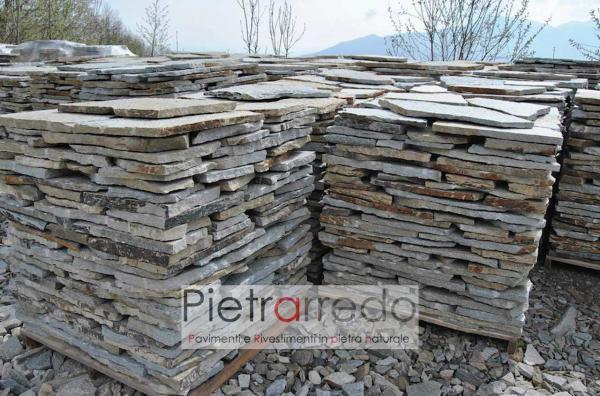 Stock pietra luserna opus incertum lastrame mosaico prezzo costi pietrarredo milano