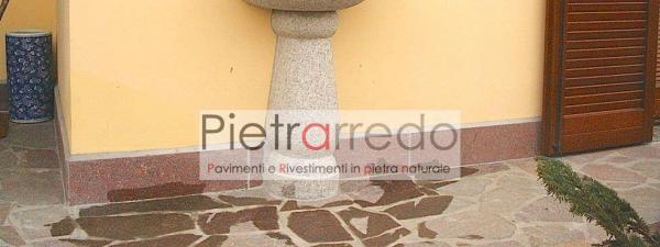 battiscopa zoccolino porfido fiammato bordo pavimento prezzo costi poco spessore basso sottile