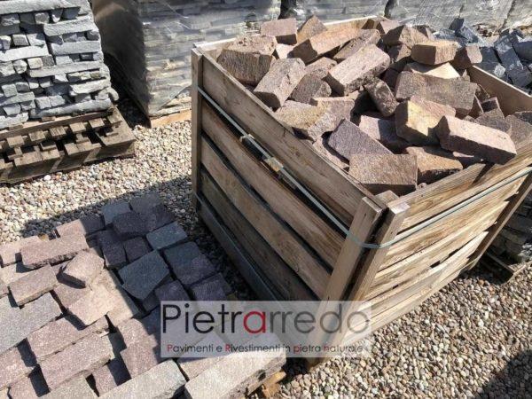 binderi di porfido per aiuole costi prezzo viola misto pietrarredo milano mattoncini sasso rosso