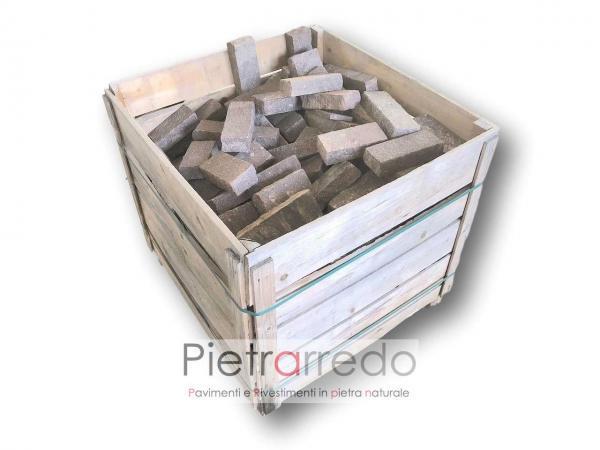cassa in offerta binderri di porfido mattoni in pietra sasso da pavimento e decorazioni pietrarredo milano